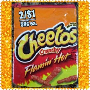 Recycled Cheetos wrapper coin purse